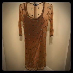 Vintage Betsey Johnson Brown Dress. Circa 1996.